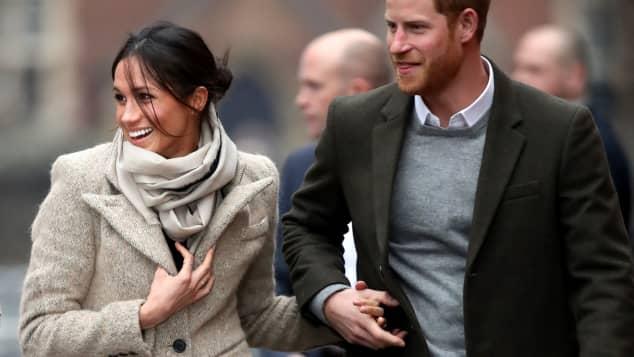 Meghan Markle und Prinz Harry wirken gut gelaunt