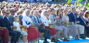 Die schwedische Königsfamilie anlässlich des 42. Geburtstages von Kronprinzessin Victoria am 14. Juli 2019