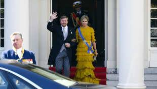 König Willem-Alexander und Königin Máxima bei der Parlamentseröffnung 2020