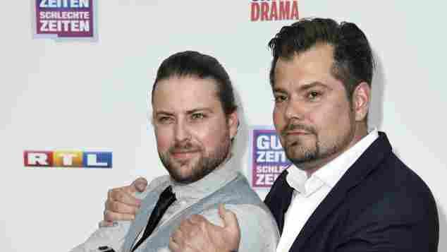 Felix von Jascheroff und Daniel Fehlow bei der GZSZ Party 25 Jahre GZSZ im Delphi Filmpalast am 17. Mai 2015