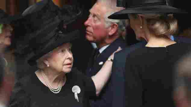 Königin Elisabeth II Beerdigung Gräfin Mountbatten von Burma