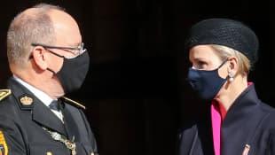 Prinzessin Charlene und Fürst Albert von Monaco