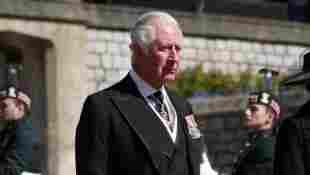 Prinz Charles bei der Beerdigung seines Vaters Prinz Philip am 17. April 2021