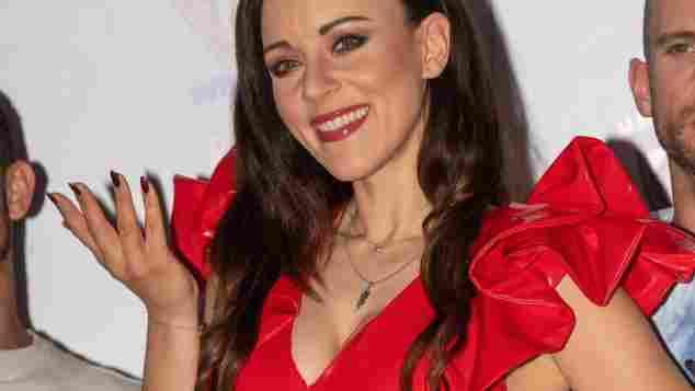 Schon Anfang Juni trug Jasmin Wagner das rote Leder-Outfit bei einem Konzert auf Mallorca