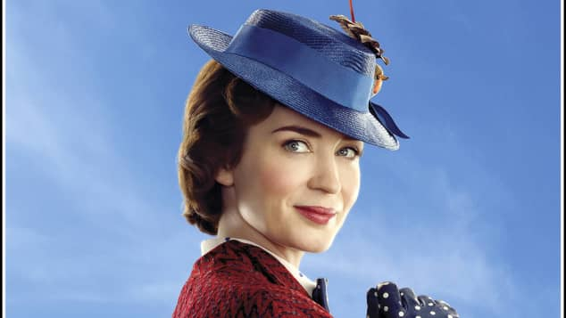 "Emily Blunt als ""Mary Poppins"""