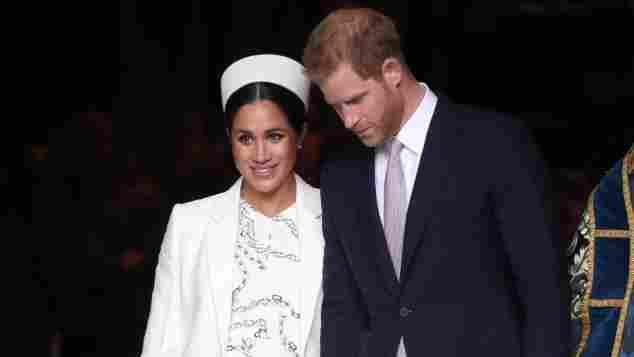 Herzogin Meghan mit Harry beim Gottesdienst am Commonwealth Day