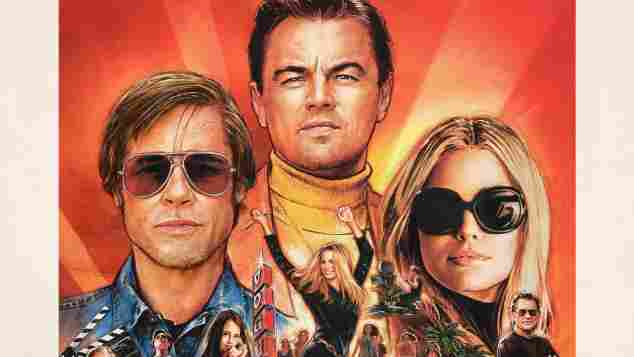 """""""Once Upon a Time in Hollywood"""" Filmplakat"""