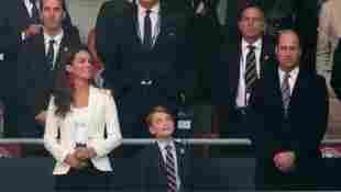 Herzogin Kate, Prinz George und Prinz William beim EM-Finale zwischen England und Italien am 11. Juli 2021