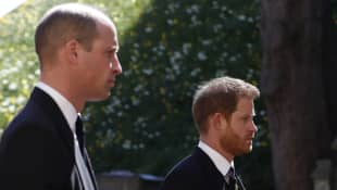 Prinz William und Prinz Harry bei Philips Beerdigung