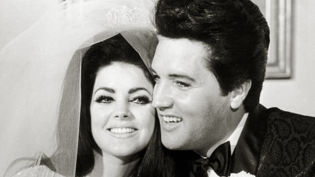 Priscilla Presley und Elvis Presley hochzeit