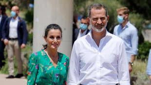 Königin Letizia und König Felipe besuchen Palma de Mallorca.