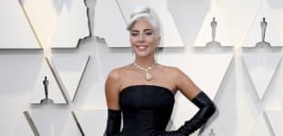 Lady Gaga Oscars Oscar Look Diamant gelber Diamant Kette