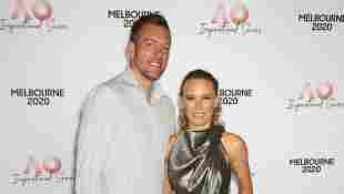David Lee und Caroline Wozniacki beim AO Inspirational Series Lunch während der Australian Open 2020 am 30. Januar 2020