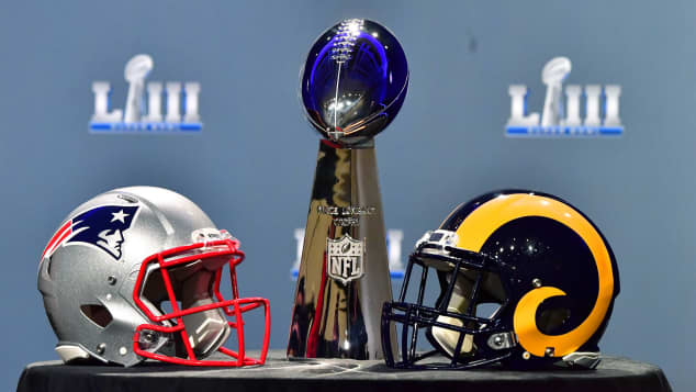 Super Bowl 2019 New England Patriots Los Angeles Rams