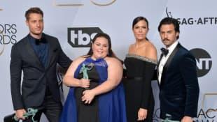 Justin Hartley, Chrissy Metz, Mandy Moore, und Milo Ventimiglia