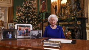 Königin Elisabeth II. Weihnachten