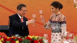 Königin Letizia und Moon Jae-in