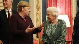 Angela Merkel und Königin Elisabeth II.