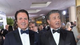 Frank Stallone und Sylvester Stallone bei den Golden Globe Awards 2017