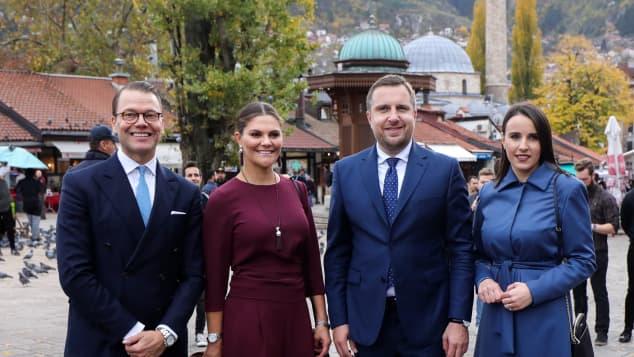 Prinz Daniel, Prinzessin Victoria und Abdulah Skaka
