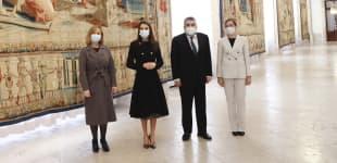 """Königin Letizia ist Teil einer Ausstellung zu Ehren des Künstlers """"Raffael"""""""