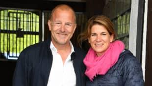 Schauspieler Heino Ferch, seine Frau Marie-Jeanette und ihr gemeinsamer Sohn Gustav