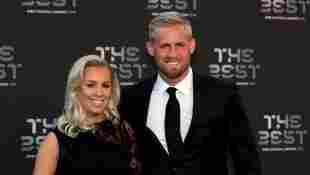 Kasper Schmeichel und Stine Gyldenbrand bei den The Best FIFA Football Awards am 24. September 2018