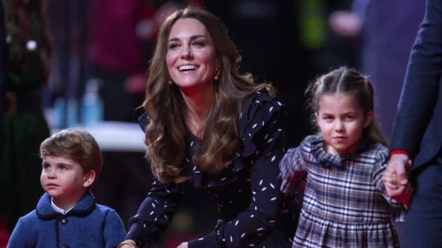 Herzogin Kate, Prinz Louis und Prinzessin Charlotte