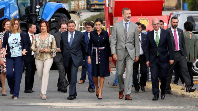 Das Spanische Königspaar bei der Landwirtschaftsmesse