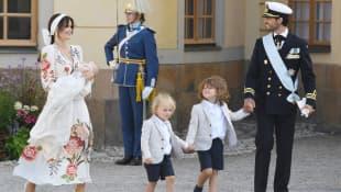 Prinzessin Sofia, Prinz Julian, Prinz Gabriel, Prinz Alexander und Prinz Carl Gustav