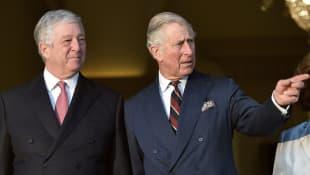 Kronprinz Alexander von Serbien und Prinz Charles
