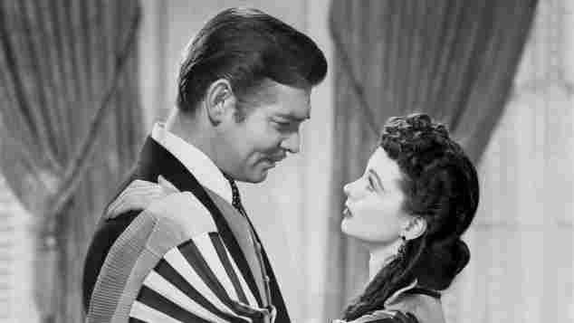 """Clark Gable und Vivien Leigh in einer Szene des legendären Filmklassikers """"Vom Winde verweht"""" von 1939"""