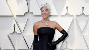 Lady Gaga Oscars Oscar Look diamond yellow diamond necklace