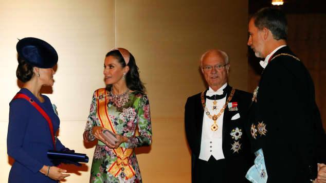 Prinzessin Victoria, Königin Letizia, König Carl Gustaf und König Felipe