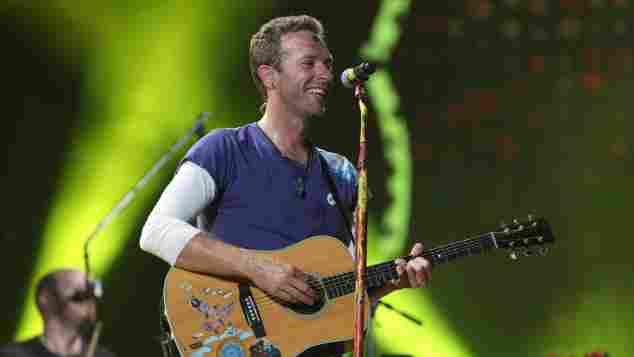 Chris Martin bei einem Auftritt mit seiner Band Coldplay in Sao Paulo 2017