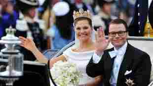 Prinzessin Victoria und Prinz Daniel von Schweden am Tag ihrer Hochzeit am 19. Juni 2010