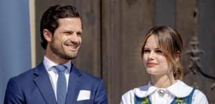 Prinz Carl Philip und Sofia von Schweden öffnen feierlich die Türen zum Königlichen Schloss im Juni 2019