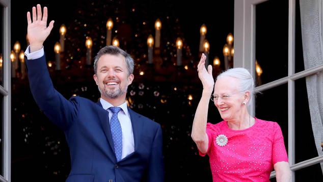 Prinz Frederik von Dänemark und Königin Margtethe