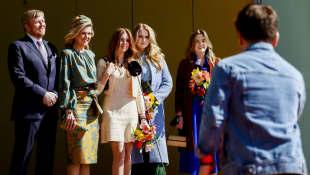 König Willem-Alexander, Königin Maxima, Alexia, Amalia und Ariane