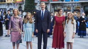 Königin Letizia, König Felipe, Königin Sofia, Prinzessin Leonor, Prinzessin Sofia