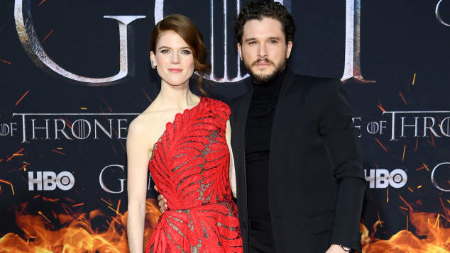 "Rose Leslie und Kit Harington bei der""Game of Thrones""-Premiere"