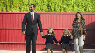 König Felipe, Prinzessin Leonor, Prinzessin Sofia und Königin Letizia