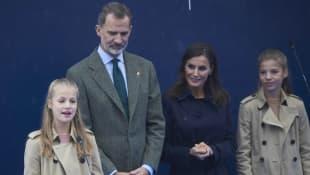 Prinzessin Leonor, König Felipe, Königin Letizia und Prinzessin Sofia