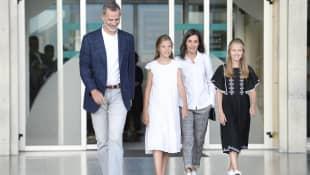 König Felipe, Prinzessin Sofia, Königin Letizia, Prinzessin Leonor