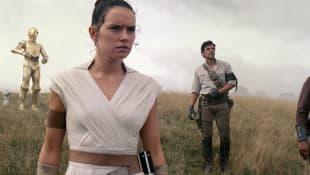 """Joonas Suotamo, Daisy Ridley, Oscar Isaac und John Boyega in """"Star Wars: Der Aufstieg Skywalkers"""""""