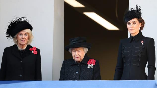 Camilla, Königin Elisabeth II. und Herzogin Kate