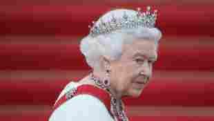Königin Elisabeth II. auf Schloss Bellevue im Juni 2015