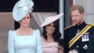 Herzogin Kate, Herzogin Meghan und Prinz Harry