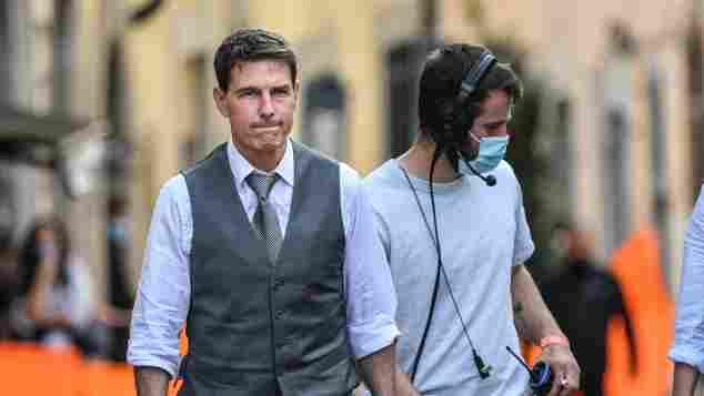 """Tom Cruise während der Dreharbeiten zu """"Mission: Impossible 7"""" am 6. Oktober 2020 in Rom"""