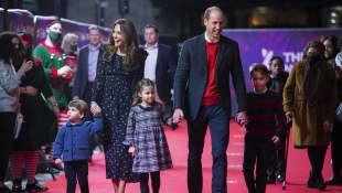 Prinz William und Herzogin Kate mit Prinz Louis, Prinzessin Charlotte und Prinz George